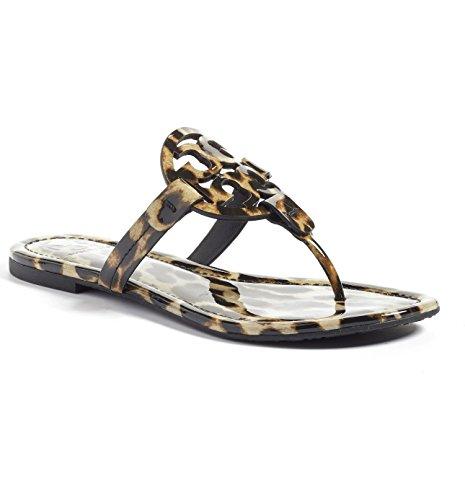 Tory Burch Miller Metallic Sandal Womens (9, Natural - Leopard Burch Tory