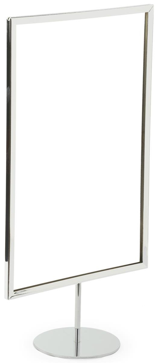 Displays2go 11 x 17 Sign Holders for Tabletop Use RD1117BKMS Set of 10 Frames Black Weighted Base George Patton Associates Inc