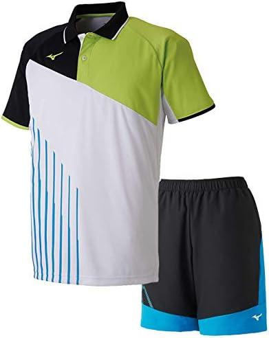 ゲームシャツ&ゲームパンツ上下セット(ホワイト/ブラックディーバブルー) 62JA9003-73-62JB9001-92