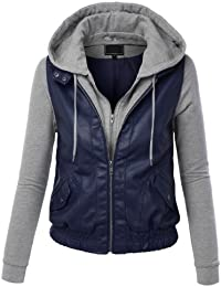 Amazon.com: Blue - Leather & Faux Leather / Coats, Jackets & Vests ...