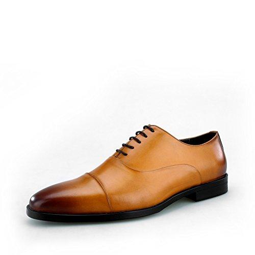 Amazon.com | Skyeshopping Handmade Mens Genuine Leather Oxford Formal Dress Shoes Black | Oxfords