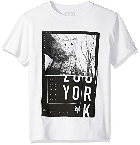 - Zoo York Boys' Big Short Sleeve Graphic TEE, White, Medium (10/12)