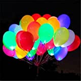LED Light up Balloons Pack Of 15 Mixed Color Party Pack Balloons