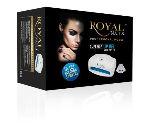 54 Watt Royal Nails Professional UV Light Gel and Acrylic Nail Dryer (Shellac Lamp Uv compare prices)