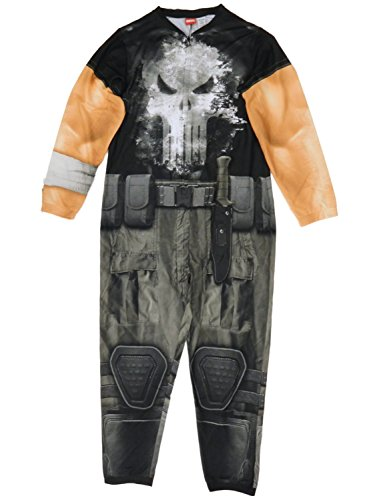 Briefly Stated Marvel The Punisher Mens Costume Union Suit One Piece Pajamas (Mens Union Suit One Piece)