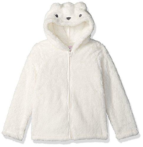 Gymboree Toddler Girls' White Bear Front-Zip Furry Hoodie, Snow Bunny, 2T