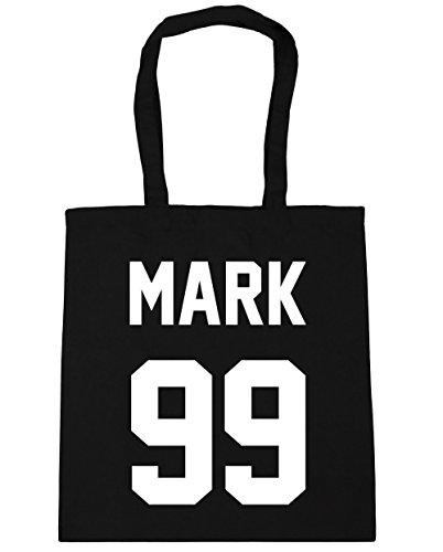HippoWarehouse marca 99(impreso en el) bolsa de la compra bolsa de playa negro 42cm x38cm, 10litros negro
