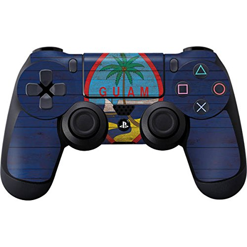 Countries of the World PS4 Controller Skin - Guam Flag Dark Wood