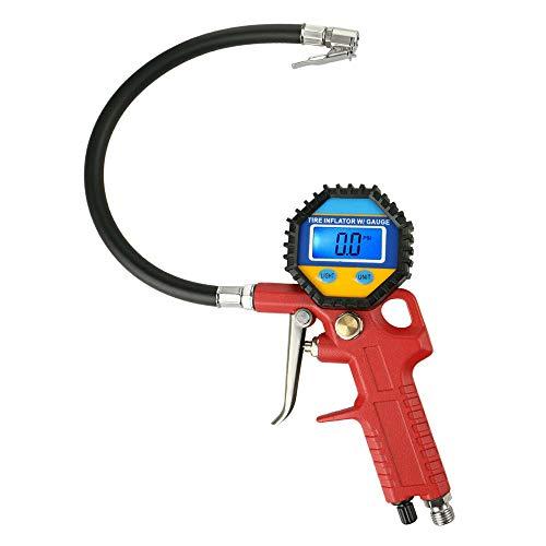 ZotoyaShop Tire Inflator Digital Gauge Pressure Chuck150 Psi Lock On Air Resolution Car High Accurate