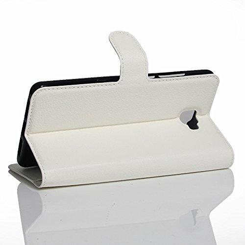 OFU® Para Archos 55 Cobalt Plus Funda,Dual Layer PC And TPU Hybrid Card Carry Pocket Wallet Slot,Cartera Cuero Funda de Piel Wallet Case para Archos 55 Cobalt Plus Carcasa Flip Case Cover con Función