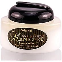 One Minute Manicure Moisturizing Salt Scrub – Classic Mint – 13 oz | Professionally Formulated To Exfoliate, Recondition & Moisturize Skin | Enhanced With Botanical Oils & Natural Sea Salts