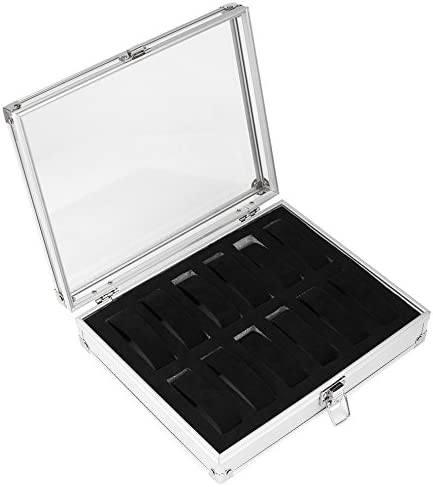 Dailyinshop Caja de almacenamiento, 12 ranuras cuadradas de aluminio para relojes: Amazon.es: Deportes y aire libre