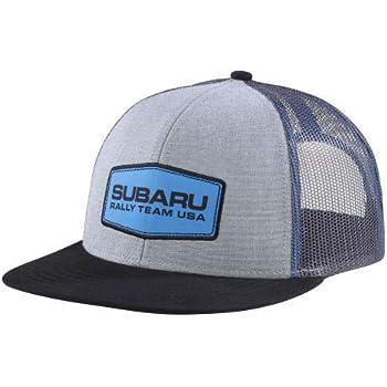 efc58147c2f49 SUBARU Genuine Patch Flatbill Trucker Cap Rally USA Gear Hat Impreza STI WRX  New
