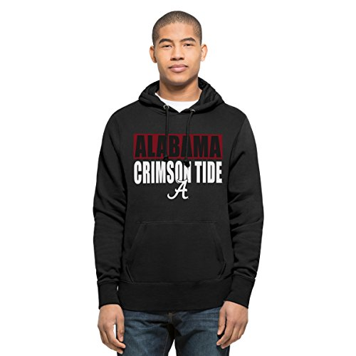 (NCAA Alabama Crimson Tide Men's Headline Pullover Hoodie, Medium, Jet Black)