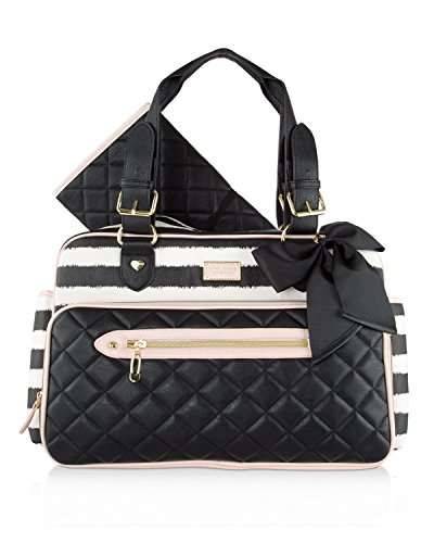 Betsey Johnson Weekender Diaper Bag with Matching Changing Pad (CANDY STRIPE/PINK) (Betsey Johnson Stripe)