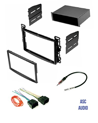 ASC Audio Car Stereo Dash Kit, Wire Harness, and Antenna Adapter for some Chevrolet Pontiac Saturn Vehicles - Compatible Vehicles Listed Below