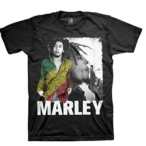 Bob Marley Rasta Stripe T-Shirt (Large)