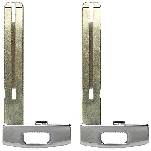 Kia Sedona Dealers - QualityKeylessPlus TWO Uncut Remote Prox Smart Key Blade Blank Replacement Emergency Inserts for Kia with FREE KEYTAG