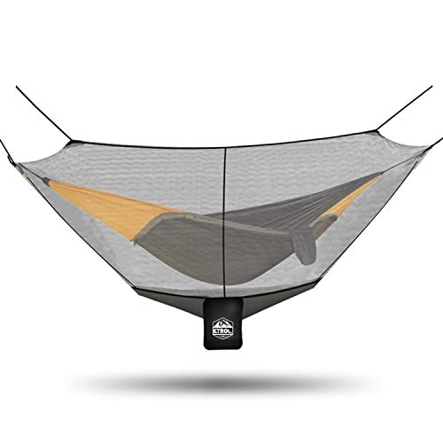 ETROL Hammock Mosquito Net, Universal Polyester Bug Mesh Net, Easy Setup Anti - Mosquitos and Insects with 360° Protection for Health and Safety, Keep in Peace, Fits All Hammocks, 10FT ()