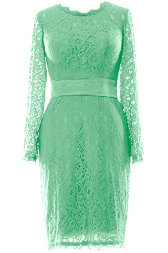 Women Party Minze Gown Dress Lace Cocktail MACloth Sleeve Evening Long Wedding Short p8WqFwRAFd