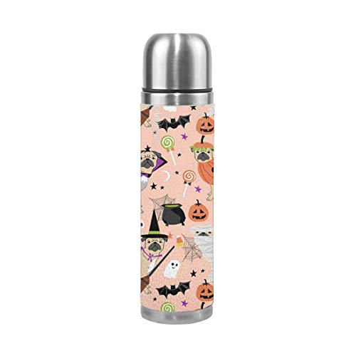 Xu Da Gang Pug Halloween Costume Stainless Steel Vacuum Flask Vacuum Cup Fashion Business Cup Heat Preservation Safety]()