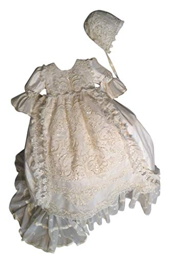- Faithclover Christening Baptism Gowns for Baby Girls Beaded Sequins Special Occasions Dresses with Bonnet