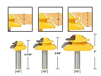 "FORTOMORROW 3pcs/set Architectural Specialty Molding Router Bit set 1/2"" Shank woodworking milling cutter cnc/milling tools/end mill"