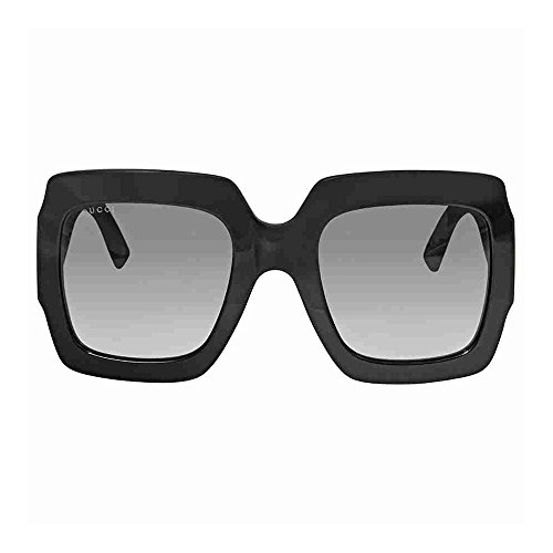 Gucci GG0102S 001 Black / Grey GG0102S Square Sunglasses Lens Category 3 Size 5 by Gucci