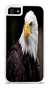 American Bald Eagle White 2-in-1 Protective Case with Silicone Insert for Apple iPhone 5 / 5S