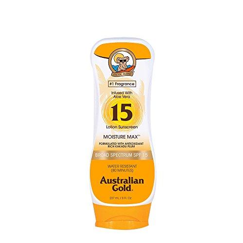 Australian Gold SPF 15 Lotion Sunscreen, Moisture Max, 8 Fl ()