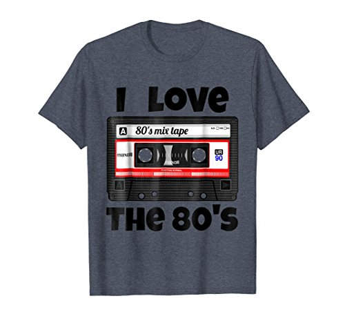 Mens I love the 80s Mix Tape T-shirt in 5 colors