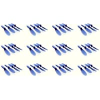 12 x Quantity of Hubsan X4 H107D Transparent Clear Blue Propeller Blades Props Rotor Set 55mm Factory Units