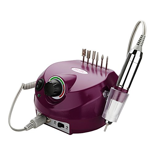 Belle Electric Nail Drill Professional 30000RPM Nail Drill Machine Electric Nail File Manicure Drill E File Nail Drill Set for Acrylic Gel Nails (110V,Purple)