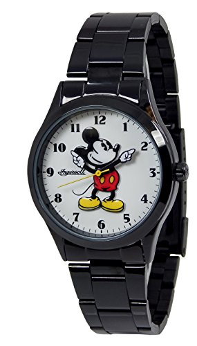 Ingersoll Men's 'Disney Classic Time' Quartz Metal and Alloy Automatic Watch, Color:Black (Model: IND 26438)