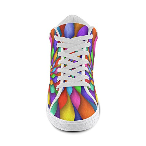 For Rainbow Canvas Artsadd Spiral Model003 Shoes Chukka Psychedelic Women CYwqxZO