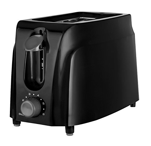 Brentwood Appliances TS-260B 2-Slice Cool Touch Toaster, Black