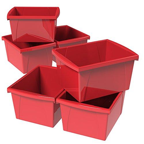 Storex 4 Gallon (15L) Classroom Storage Bin, 13.6 x 11.3 x 7.9