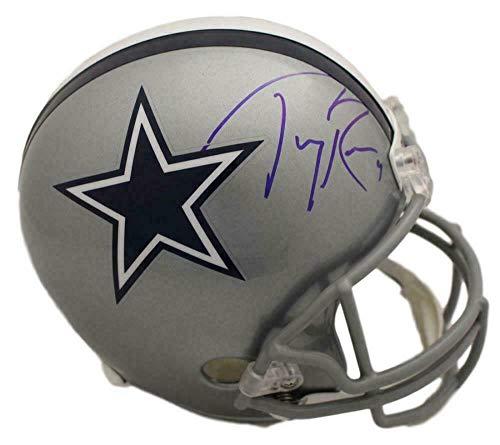 (Autographed Tony Romo Helmet - Replica BAS 22473 - Beckett Authentication - Autographed NFL Helmets)