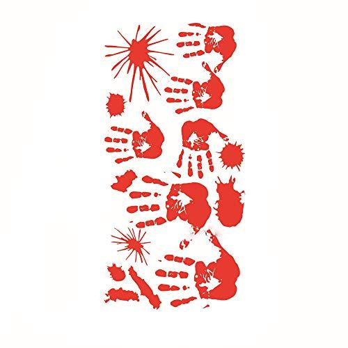 Halloween Bloody Handprint Footprint Sticking Wall Sticker Horror PVC Decoration