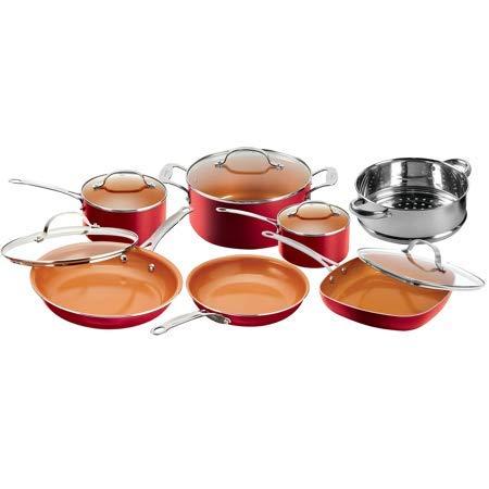 Gotham Steel 12-Piece Nonstick Frying Pan and Cookware Set,