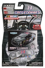 2016 Tony Stewart #14 Last Ride Mobil One 1 Paint Scheme Always A Racer, Forever A Champion Logo on Hood 1/64 Scale Diecast Lionel NASCAR Authentics With Collector Card (Paint Diecast Nascar)
