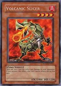 yugioh card volcanic slicer - 1