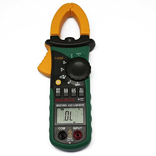 Mastech MS2108 True-RMS AC/DC Clamp Meter with Inrush Current Measurement