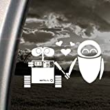 DISNEY White Decal Sticker WALL E EVE ROBOT LOVE Art Car White Decal Sticker