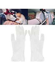 Disposable Latex Gloves 50 Pcs/Box, Disposable Tattoo Latex Gloves Practical Eyebrow Lip Tattoo Hand Protect Gloves, Exam Gloves(M)