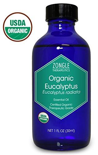 Zongle USDA Certified Organic Eucalyptus Oil, Australian, Eucalyptus Radiata, 1 oz
