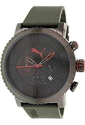 Puma Men's PU103521003 Green Rubber Quartz Watch