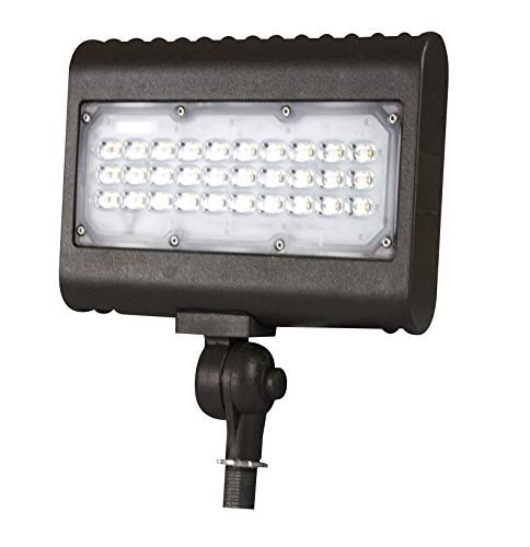 50w LED Flood Light, Daylight (5000K), 6180 Lumens, Knuckle Mount, UL/DLC. Perfect for Flagpoles, Spotlight, Residential & Commercial ()