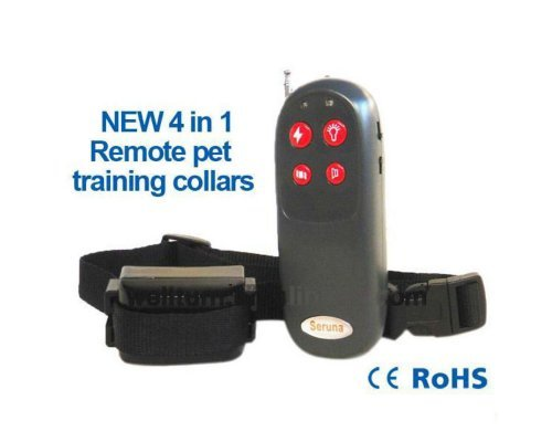 4 In1 Vibration Static 3 Level Whistle Led Electric Remote Control Dog Training Shock Collar