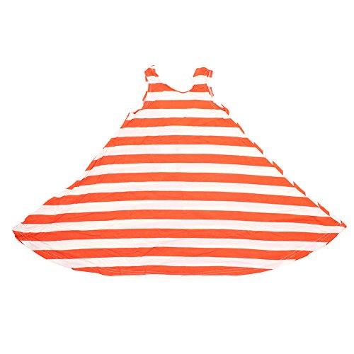 PanDaDa Summer Striped Sundress Skirts